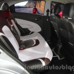 Chevrolet Sail special edition rear seat at 2016 Auto Expo