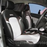 Chevrolet Sail special edition seat embroidery at 2016 Auto Expo