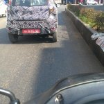 Datsun Redi-Go tail gate spied with camouflage