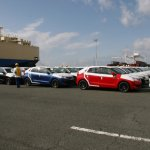 First lot of India-made Maruti Balenos (Suzuki Baleno) complete lot arrive in Japan