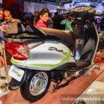 Hero Duet-E rear quarter at the Auto Expo 2016