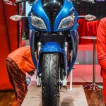 Hero HX250R blue front at Auto Expo 2016