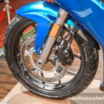 Hero HX250R blue front disc brake ABS at Auto Expo 2016