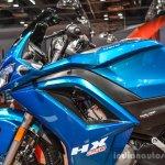 Hero HX250R blue fuel tank at Auto Expo 2016