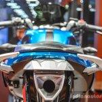 Hero HX250R blue pillion grab handles at Auto Expo 2016