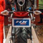 Hero HX250R blue rear at Auto Expo 2016