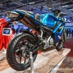 Hero HX250R blue rear quarter at Auto Expo 2016