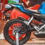 Hero HX250R blue swingarm at Auto Expo 2016