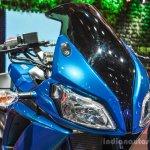 Hero HX250R blue visor at Auto Expo 2016