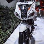 Hero Karizma white and orange headlamp at Auto Expo 2016