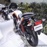Hero Karizma white and orange rear quarter at Auto Expo 2016