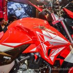 Hero Xtreme 200 S fuel tank at the Auto Expo 2016