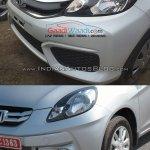 Honda Amaze facelift vs current Honda Amaze bumper