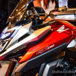 Honda CX-02 Concept handguard turn indicator at Auto Expo 2016