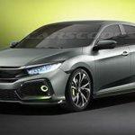 Honda Civic Hatchback Prototype concept front three quarters leaked image
