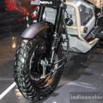 Honda Navi Adventure Concept front tyre at Auto Expo 2016