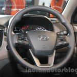 Hyundai Creta steering wheel at Auto Expo 2016