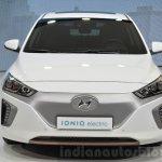 Hyundai Ioniq Electric front at Geneva Motor Show 2016