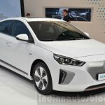 Hyundai Ioniq Electric front three quarters at Geneva Motor Show 2016