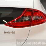 Hyundai Ioniq Hybrid badge at the 2016 Geneva Motor Show
