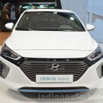 Hyundai Ioniq Hybrid front at the 2016 Geneva Motor Show