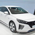 Hyundai Ioniq Plug-in front three quarters at Geneva Motor Show 2016