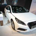 Hyundai Sonata PHEV front three quarters left at Auto Expo 2016
