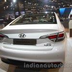 Hyundai Sonata PHEV rear at Auto Expo 2016