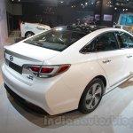 Hyundai Sonata PHEV rear three quarters at Auto Expo 2016