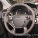Hyundai Sonata PHEV steering wheel at Auto Expo 2016