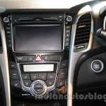 Hyundai i30 center console at 2016 Auto Expo