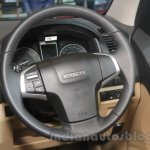 Isuzu D-Max V-Cross steering wheel detail at Auto Expo 2016