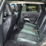 Jeep Cherokee Overland rear seat at the 2016 Geneva Motor Show
