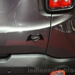 Jeep Renegade Dawn of Justice Special Edition badge at the Geneva Motor Show Live