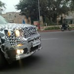 Jeep Renegade front end caught testing on Indian roads