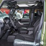 Jeep Wrangler 75th Anniversary edition front cabin at the 2016 Geneva Motor Show