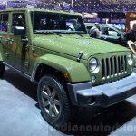 Jeep Wrangler 75th Anniversary edition front three quarter at the 2016 Geneva Motor Show