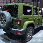 Jeep Wrangler 75th Anniversary edition rear quarter at the 2016 Geneva Motor Show
