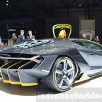 Lamborghini Centenario LP770-4 rear three quarter at the 2016 Geneva Motor Show Live