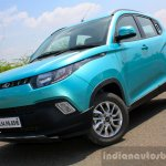 Mahindra KUV100 1.2 Diesel (D75) front three quarter dynamic Full Drive Review