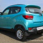 Mahindra KUV100 1.2 Diesel (D75) rear three quarter Full Drive Review