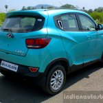 Mahindra KUV100 1.2 Diesel (D75) rear three quarter right Full Drive Review
