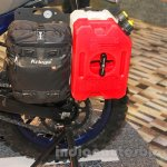 Mahindra Mojo Adventure Concept side luggage jerry cans at Auto Expo 2016