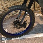 Mahindra Mojo Adventure Concept spoke wheel off-road tyre at Auto Expo 2016