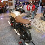 Mahindra Mojo Scrambler Concept brown seat at Auto Expo 2016