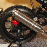 Mahindra Mojo Scrambler Concept exhaust at Auto Expo 2016
