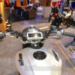 Mahindra Mojo Scrambler Concept phone mount at Auto Expo 2016