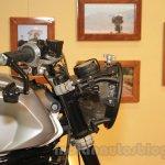 Mahindra Mojo Scrambler Concept round headlamp at Auto Expo 2016