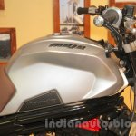 Mahindra Mojo Scrambler Concept silver fuel tank at Auto Expo 2016