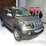 Mahindra TUV300 Endurance edition front three quarters left at the Auto Expo
